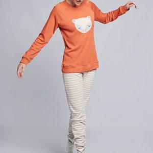 Pijama Rayas Naranja 2/1730 GISELA